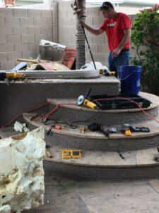 Hot Tub Removal In Progress
