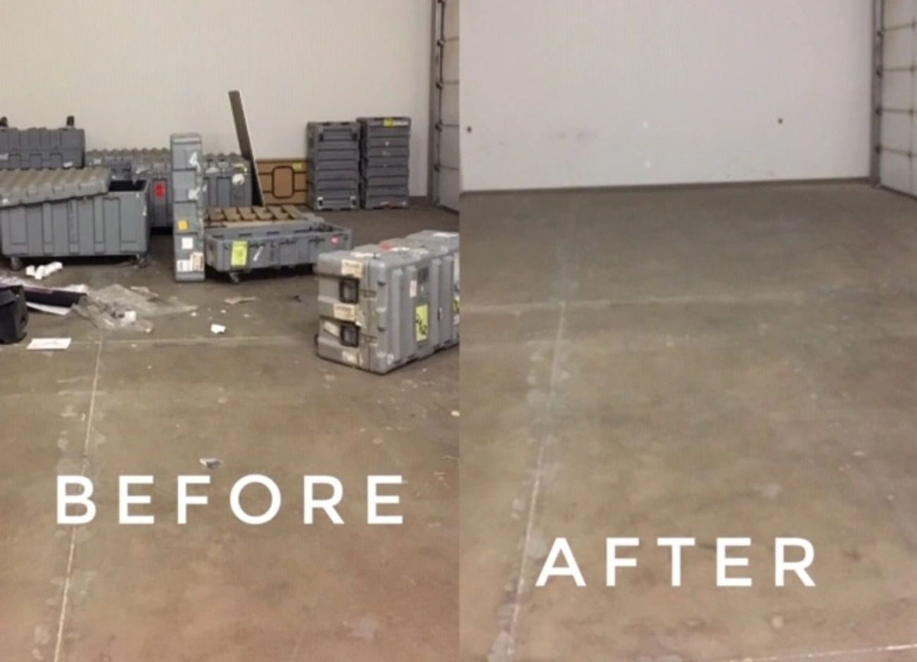 Garage Cleanout by Code 3 Junk Removal - Before and After