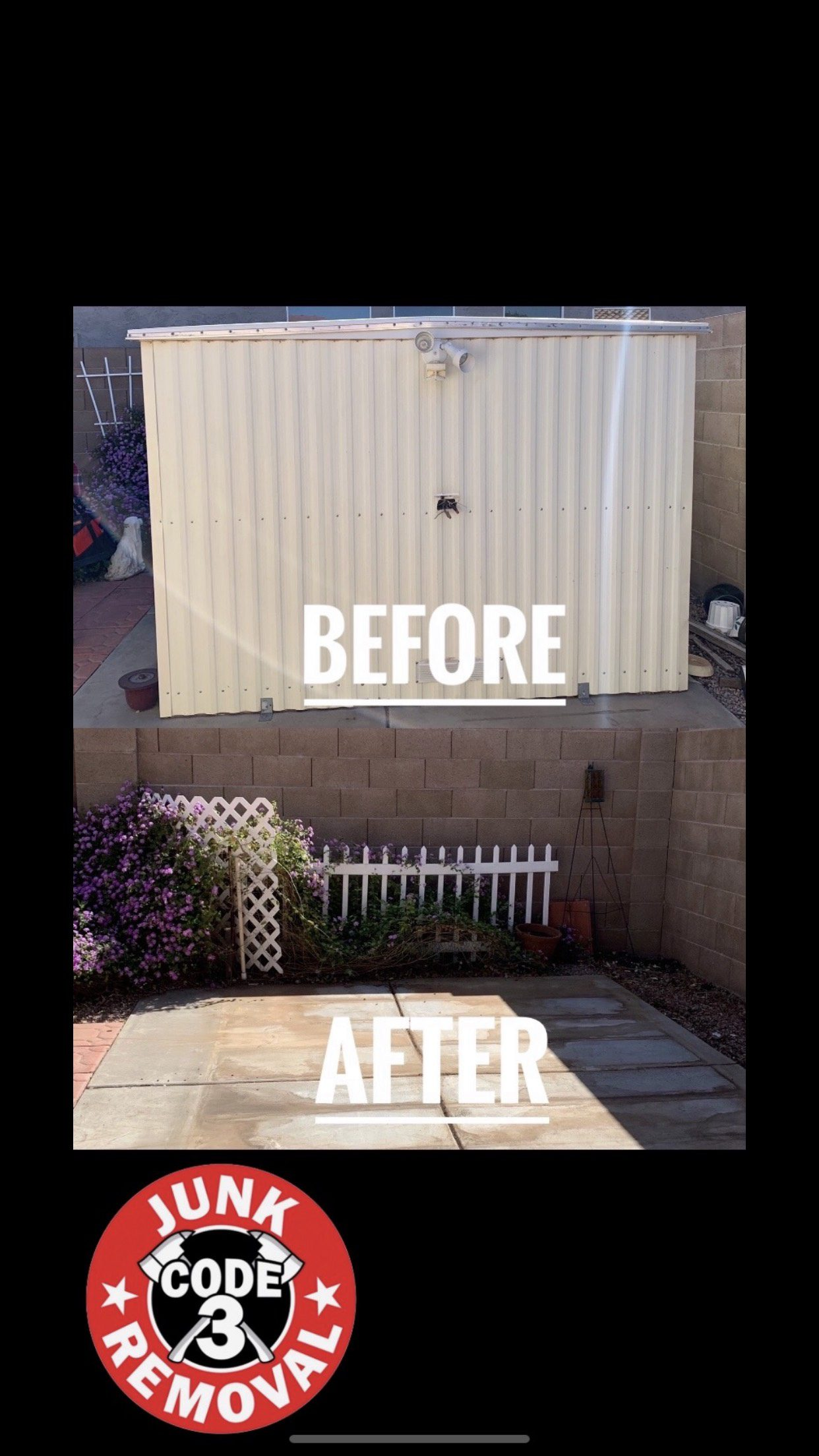 Shed Removal Before & After